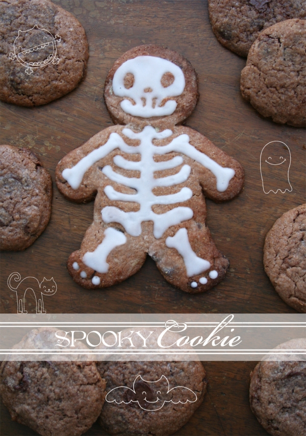Don't mess with the rabbit - spooky cookie