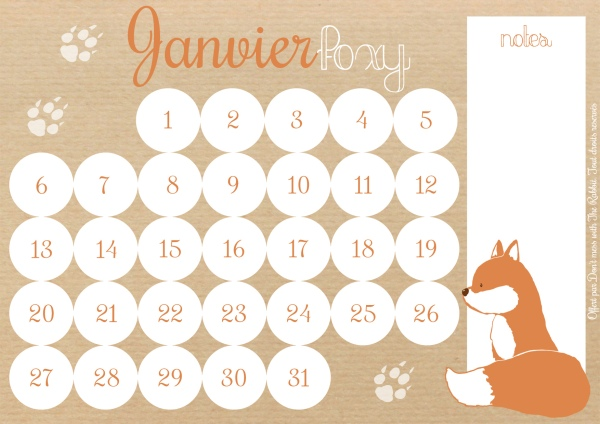 Don't mess with The Rabbit - Calendrier Janvier Foxy